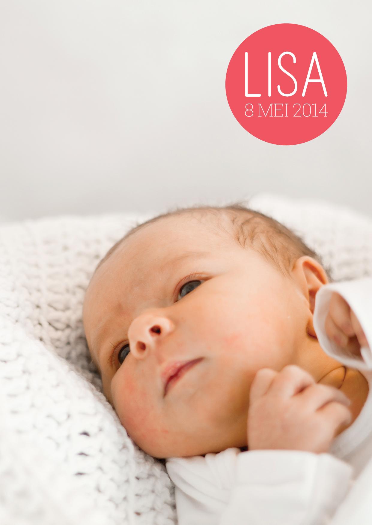 Baby Lisa geboortekaartje  fotografie