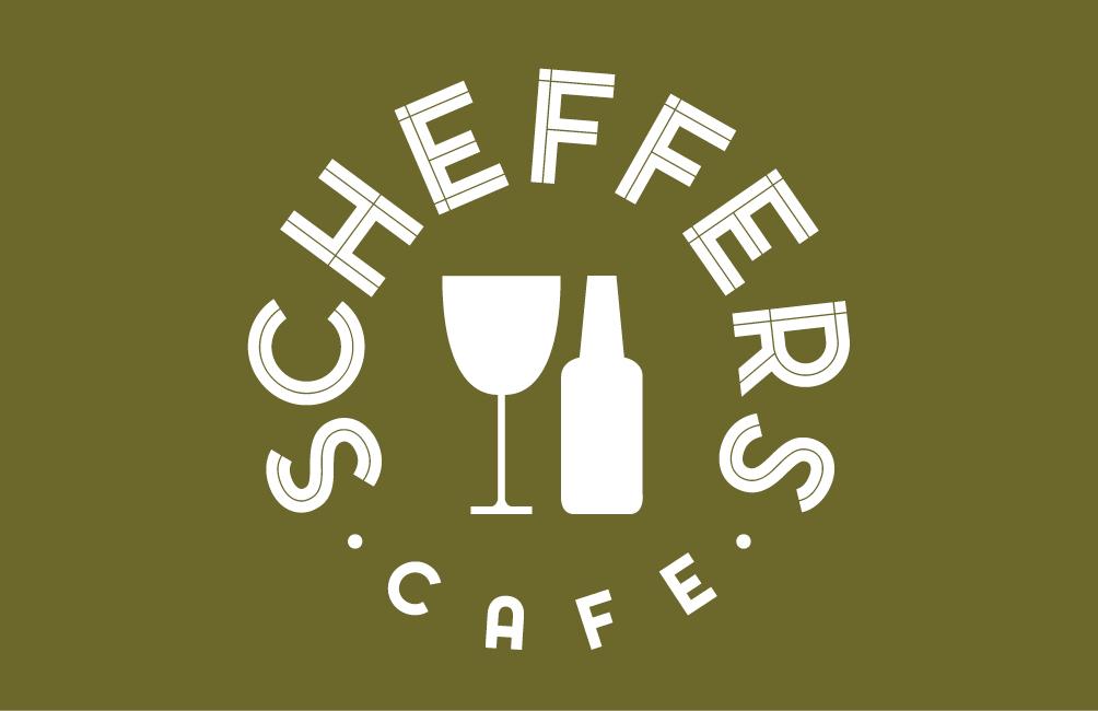 Visitekaartje  voorkant Café Scheffers