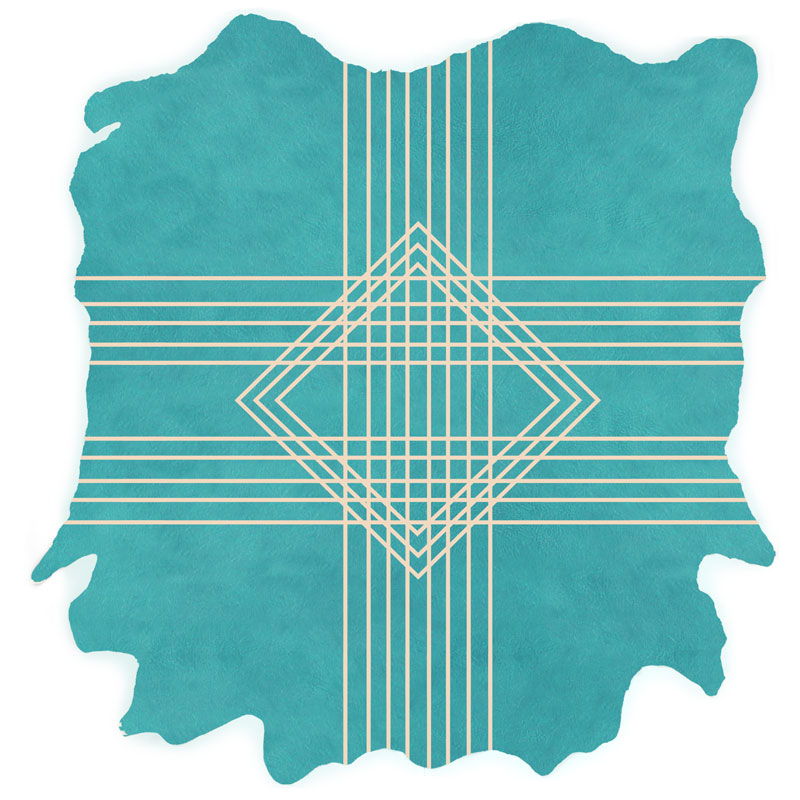 Intersection H.4 - Teal on Natural