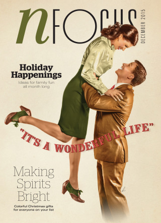 """The stars of 'It's A Wonderful Life"""" on the December 2015 cover of NFocus Magazine"""