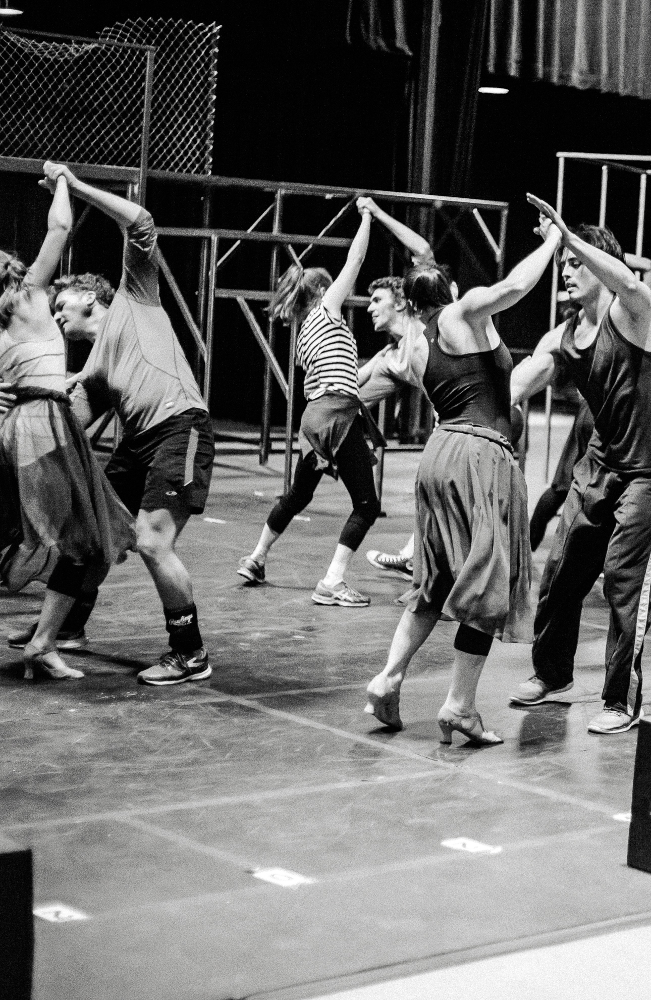 The cast of Studio Tenn's 'West Side Story' in rehearsal. Photo by MA2LA.