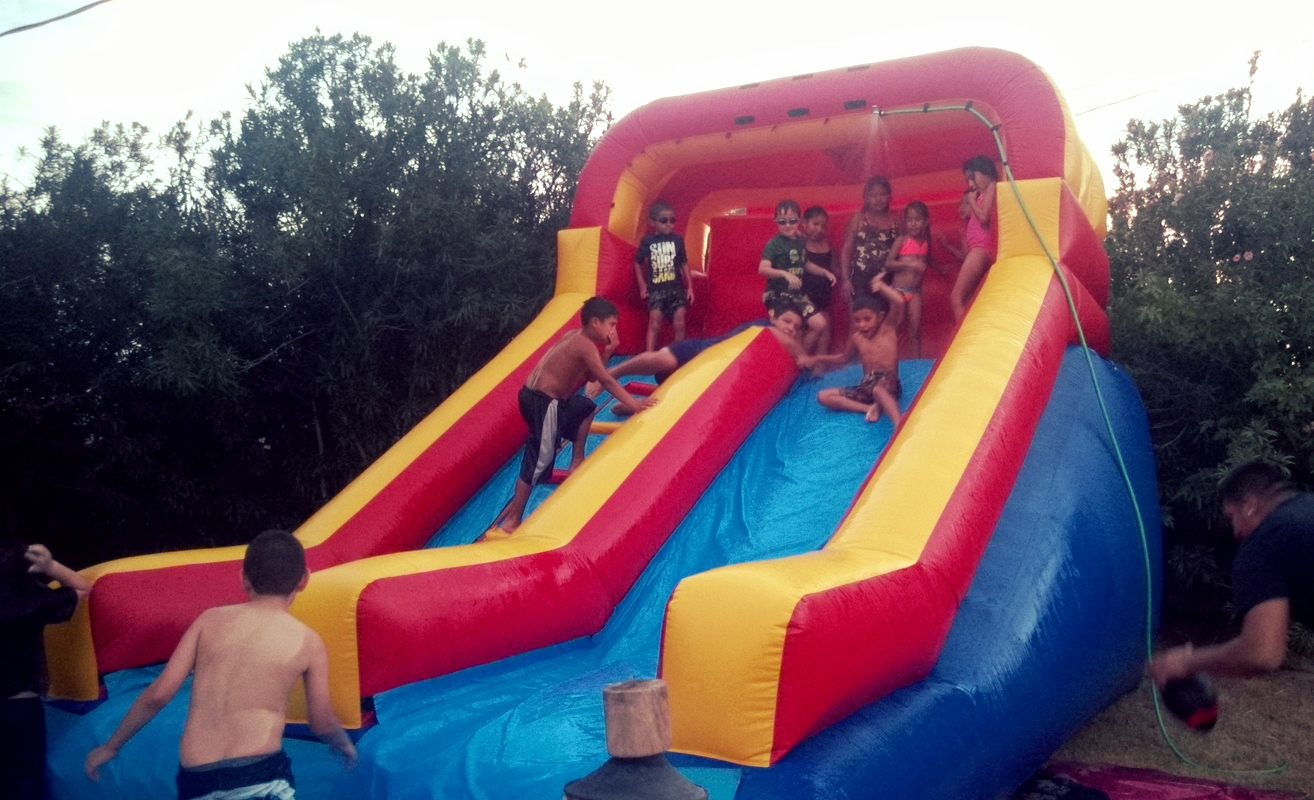 Can't beat a water slide on the 4th of July!!! Great way to wrap up V.B.S. for our kiddos!!!