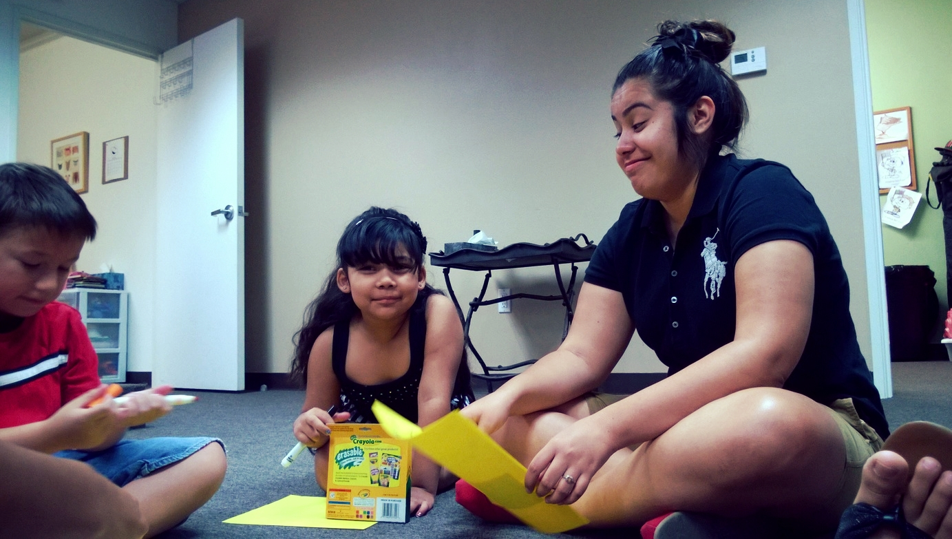 One of our college volunteers during the summer break. Thank you Briana!
