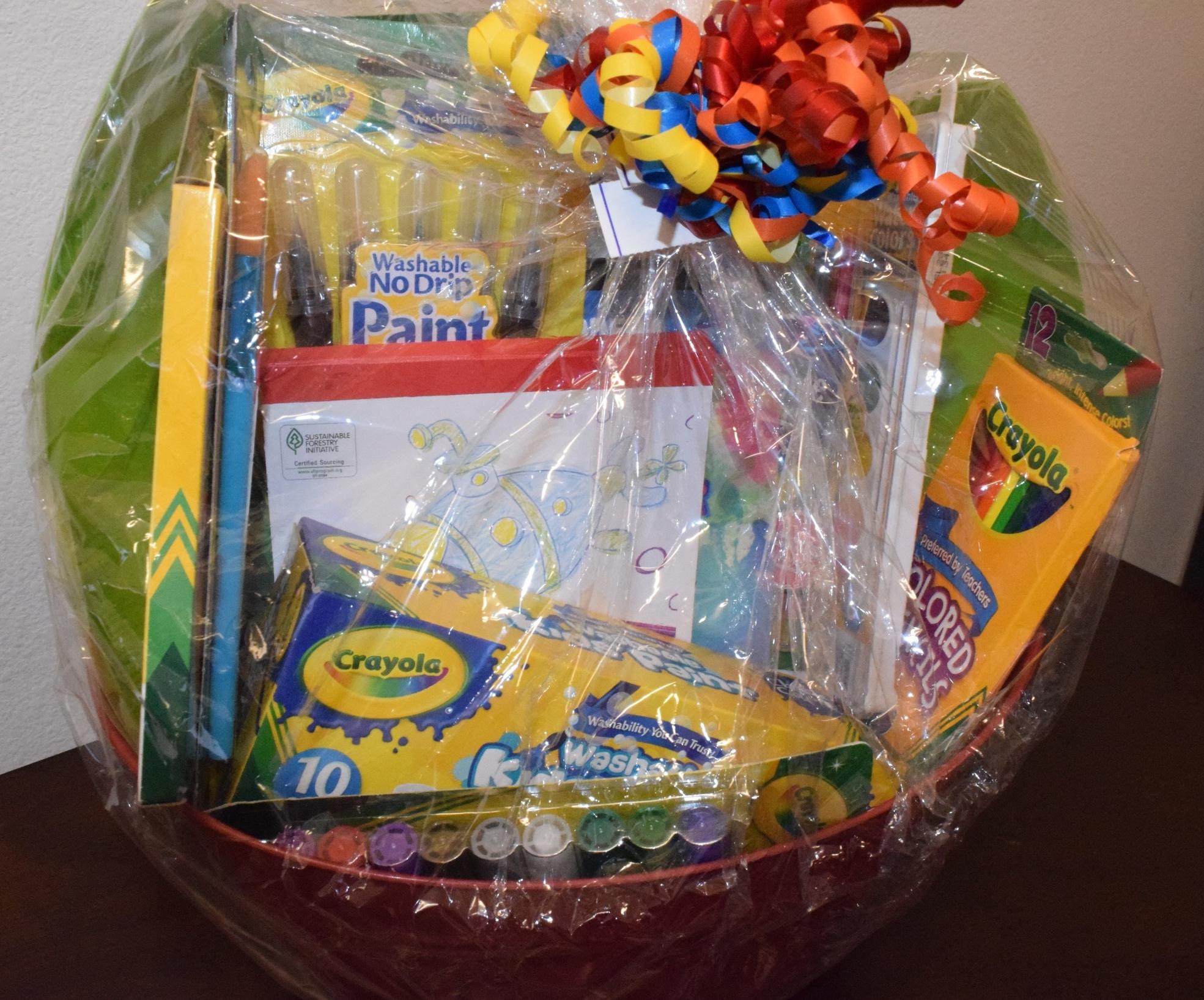 3. Crayola Child Art Basket