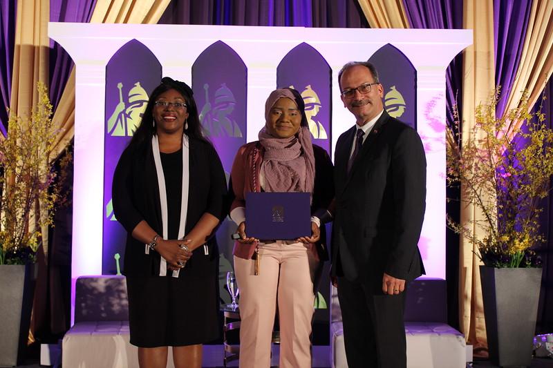 Nana-Hawwa receiving her award.