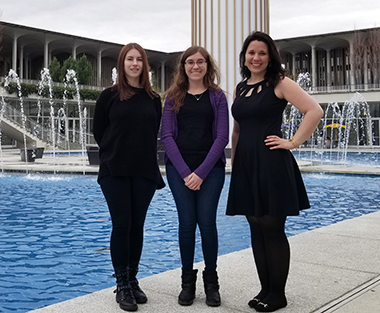Allix (on the right) as well as other UAlbany NSF recipients.