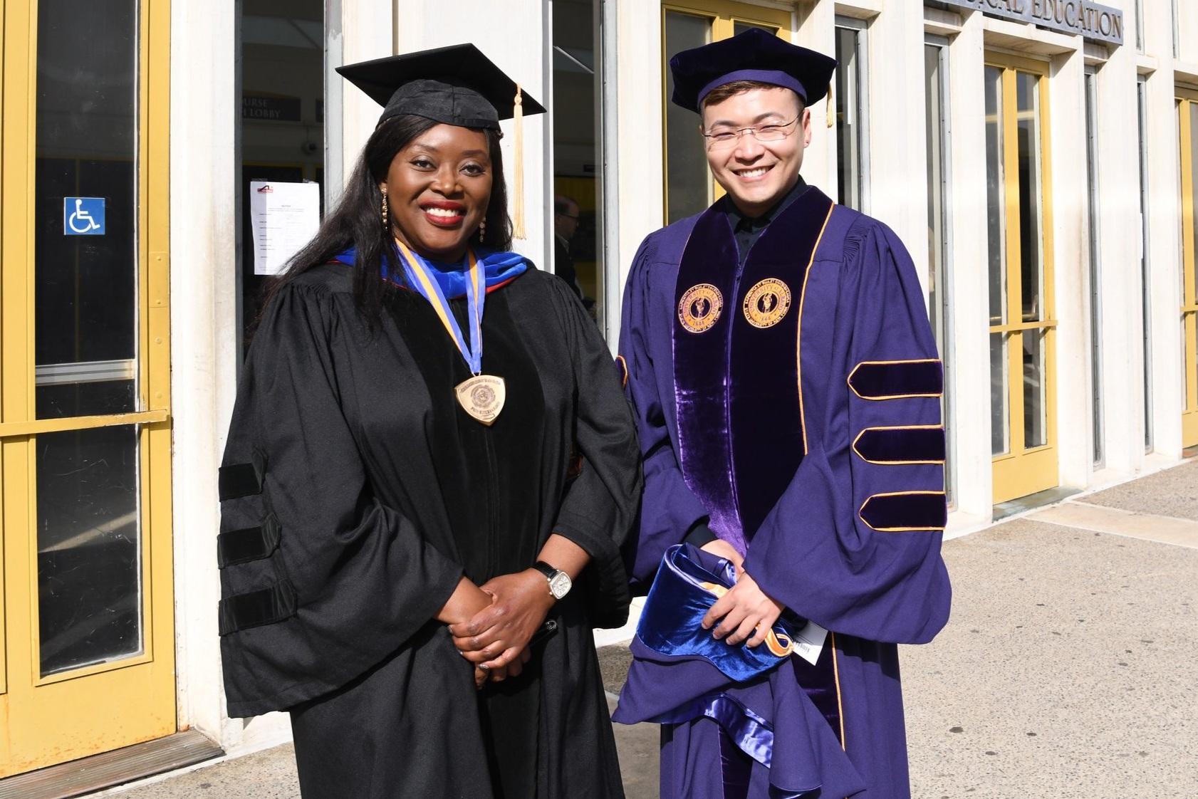 Professor Musah and Dr. Tianyu He.
