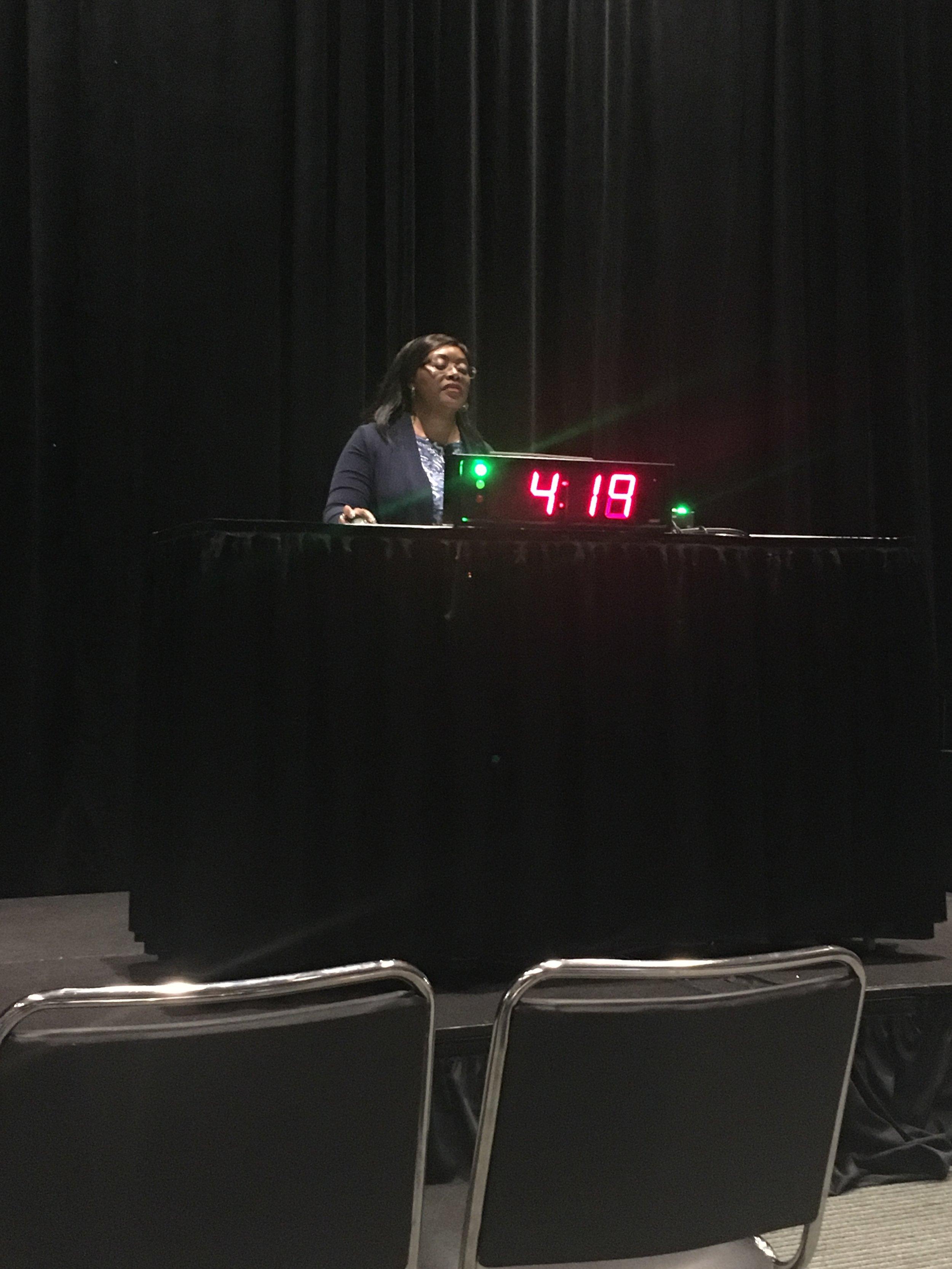 Dr. Musah presenting her talk.