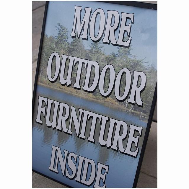 Furniture sign. July, 2919. Saranac, NY. • • •  #aintbad #fuji #uncertainmag #rentalmag #carpet #ifyouleave #eyeshotmag #burnmagazine #street #myfeatureshoot #noicemag #ourstreets_ #millennium_images #underdogsmagazine #streetphotographersmagazine #photoroomopen #anewnothing #zodiacsigns
