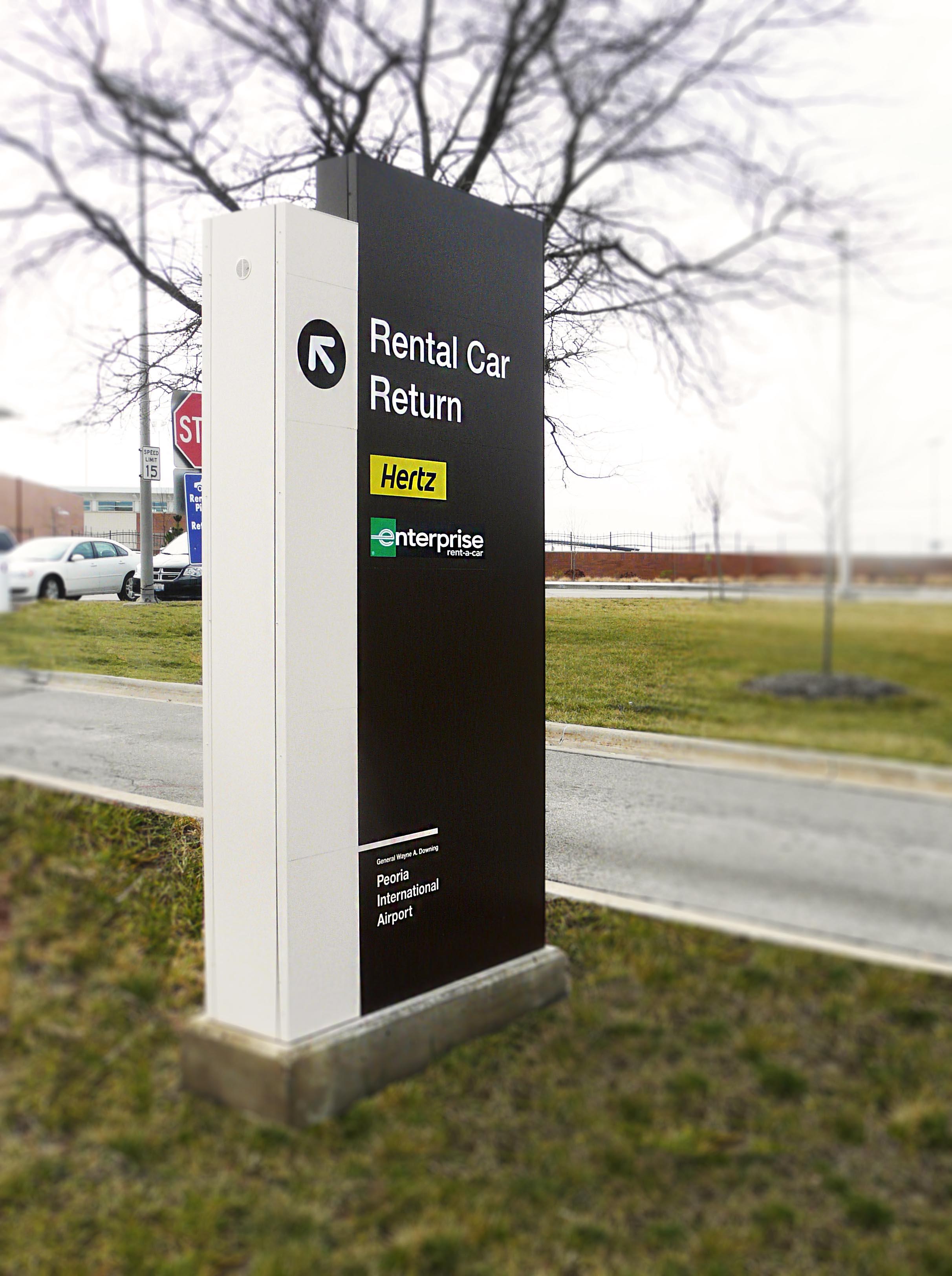 Rental Car Return Sign At Airport