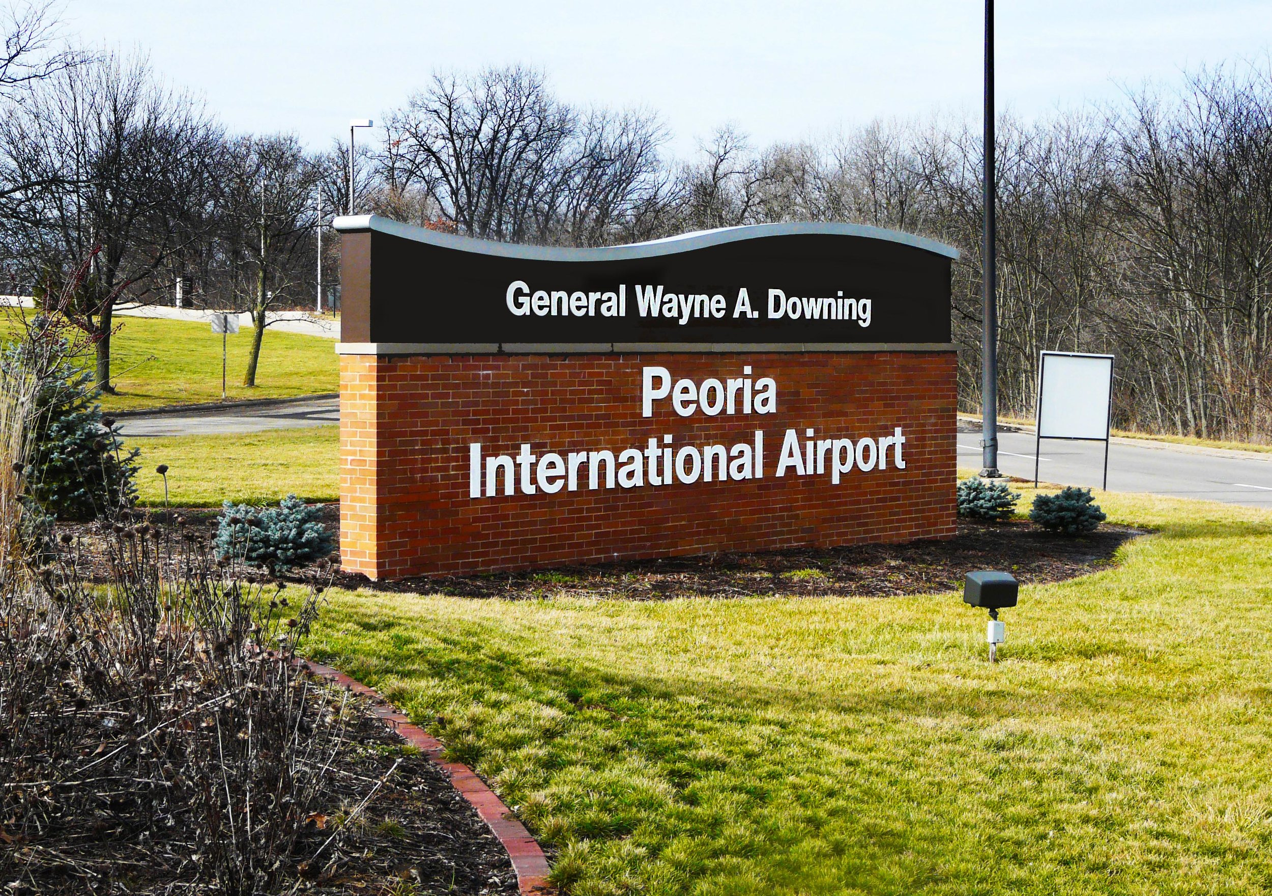 Entrance Sign To Airport