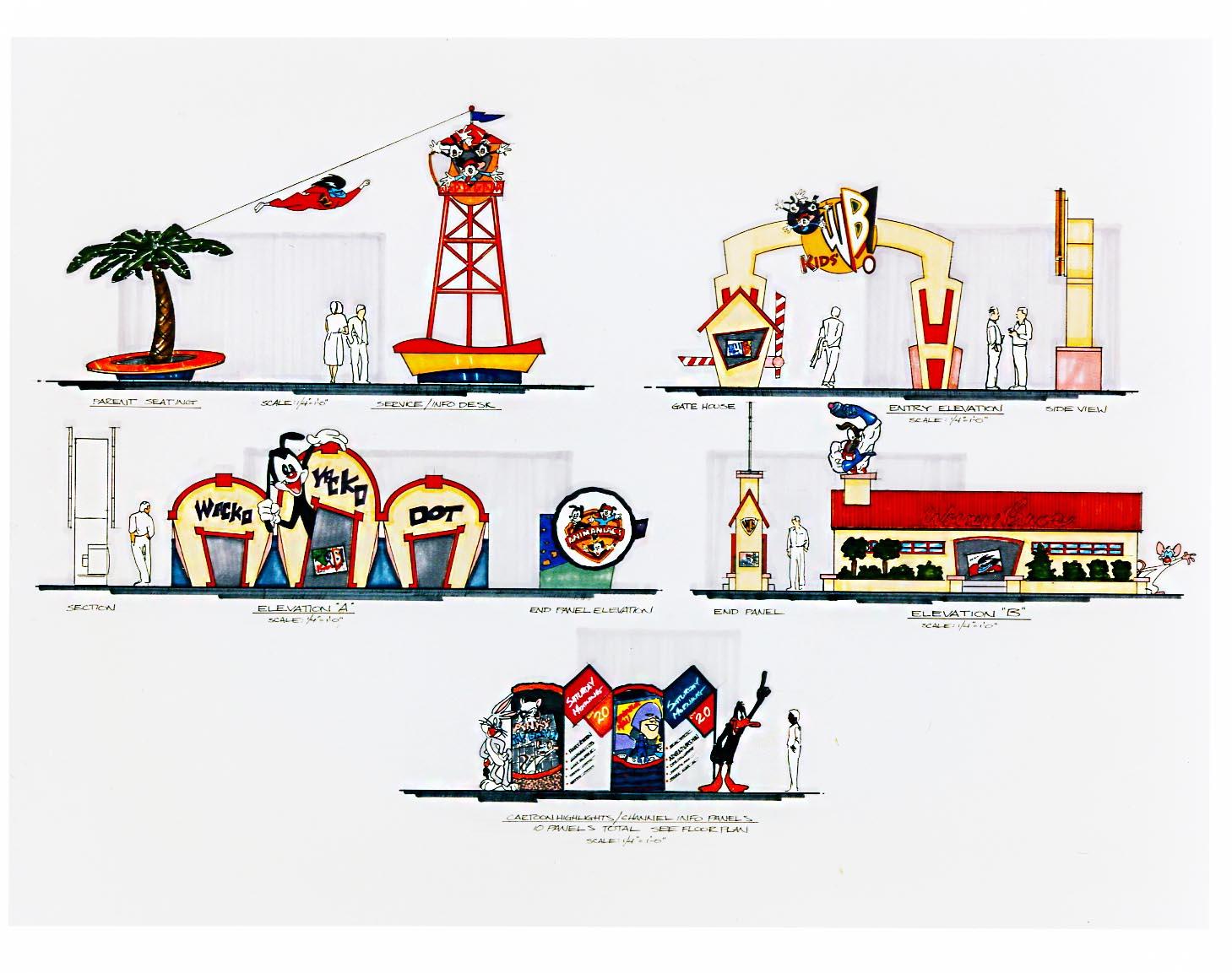 Warner Bros Exhibit Design Drawing