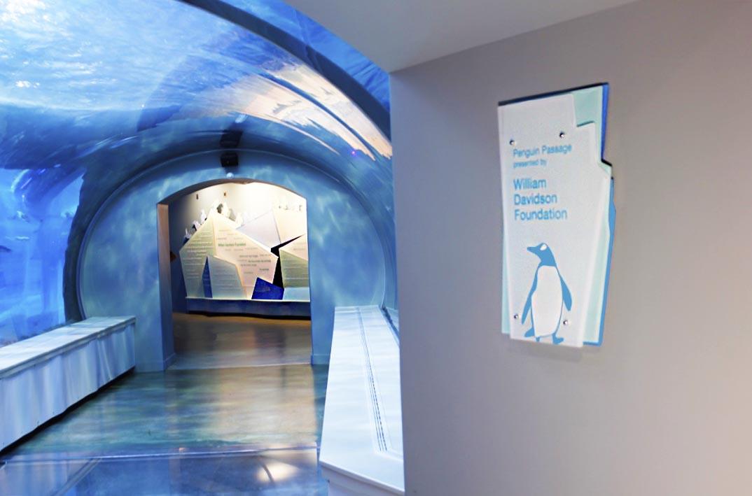 Penguin Exhibit Design Signage