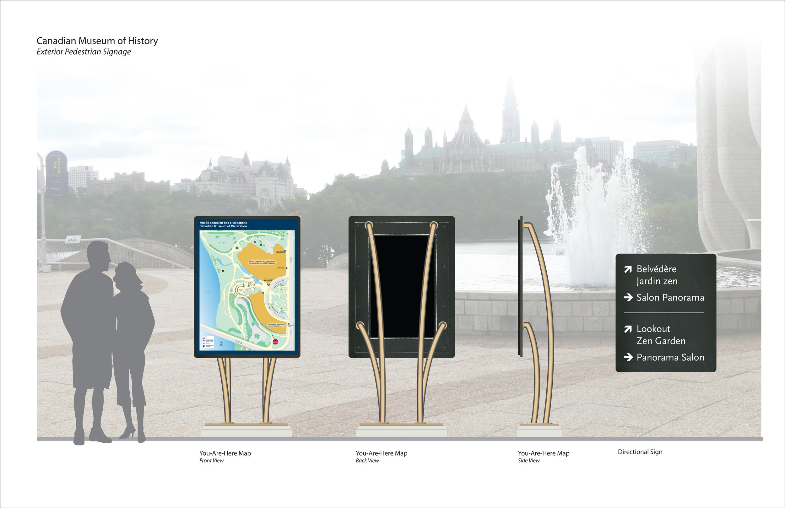 Signage Design Drawing For Canadian War Museum