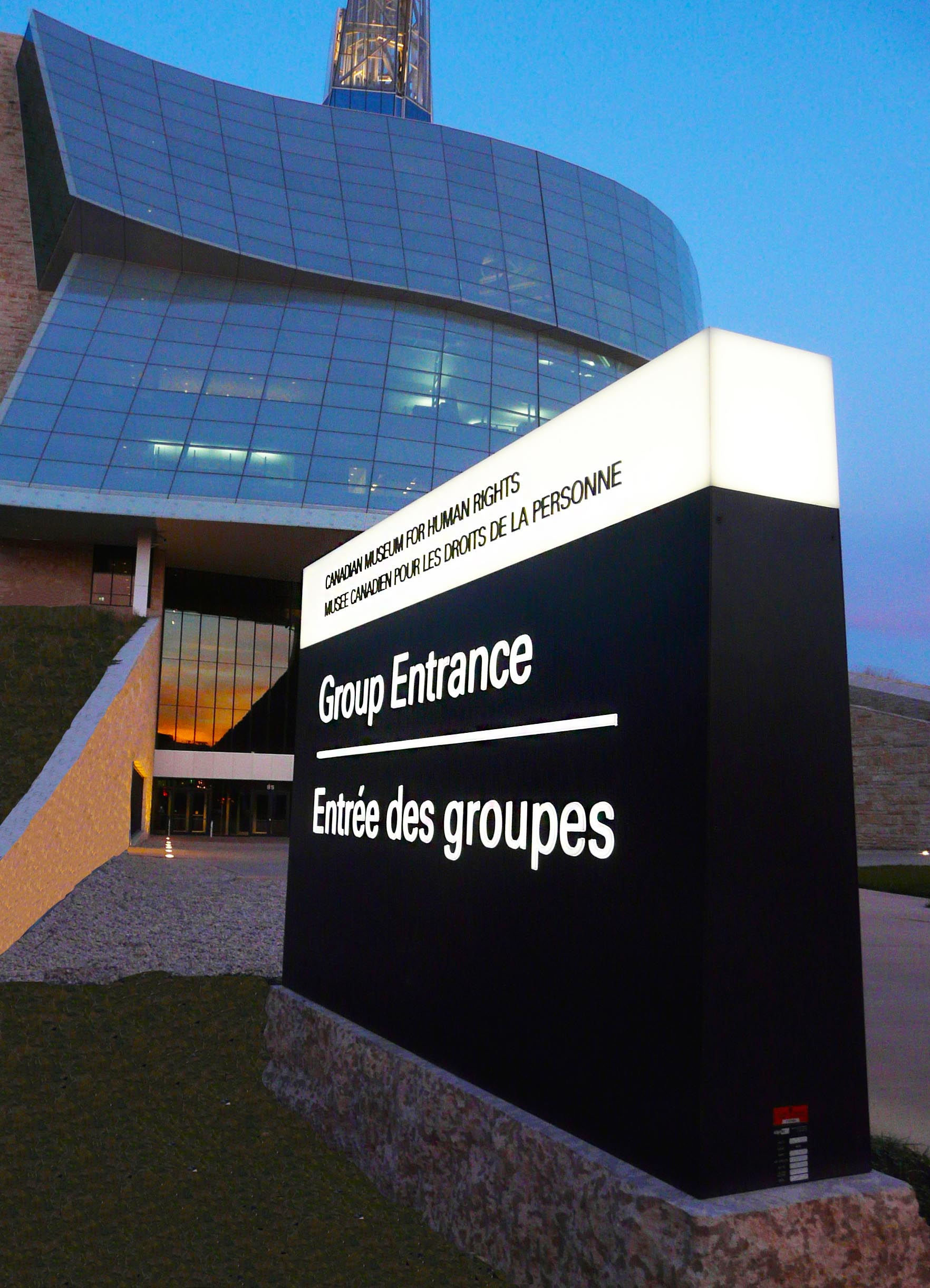 Entrance Sign To Canadian Museum For Human Rights