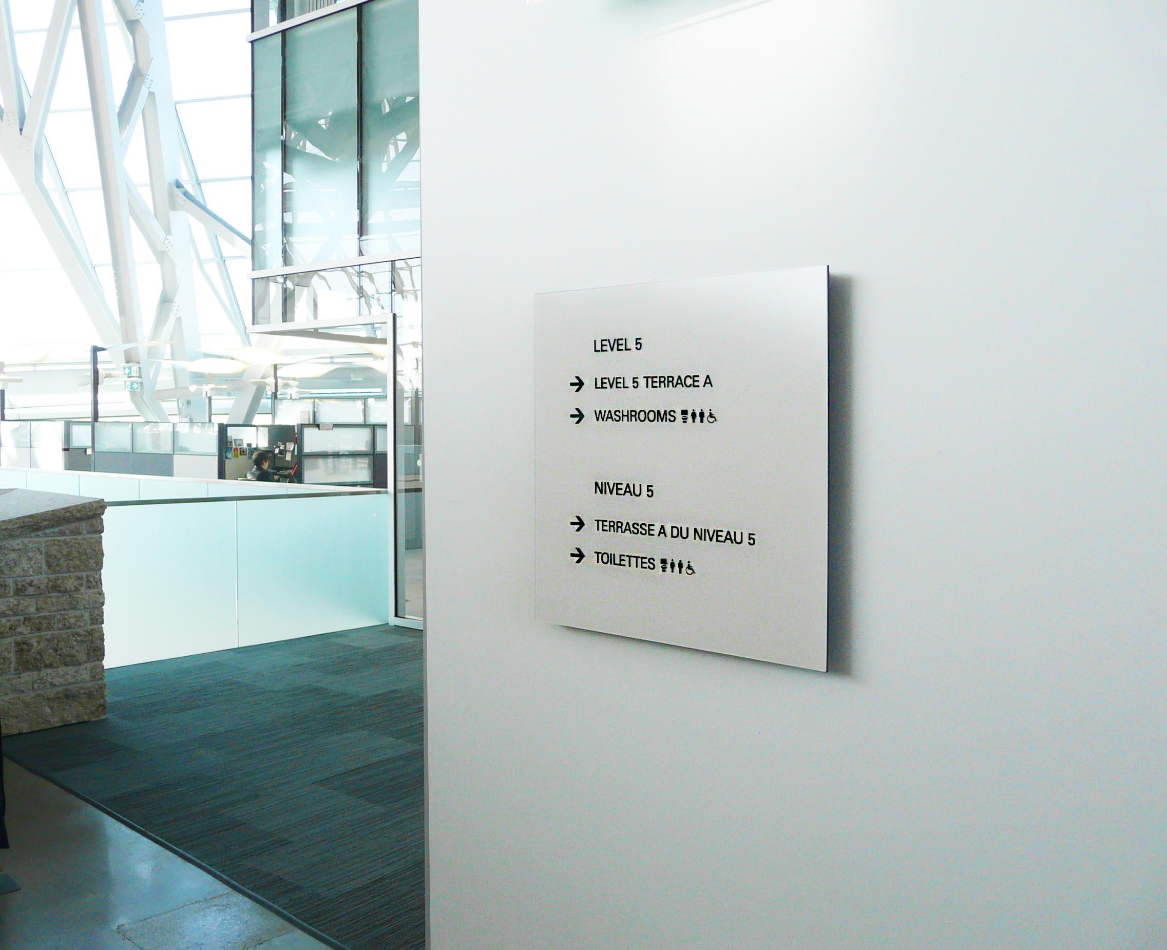 Museum Interior Directional Sign