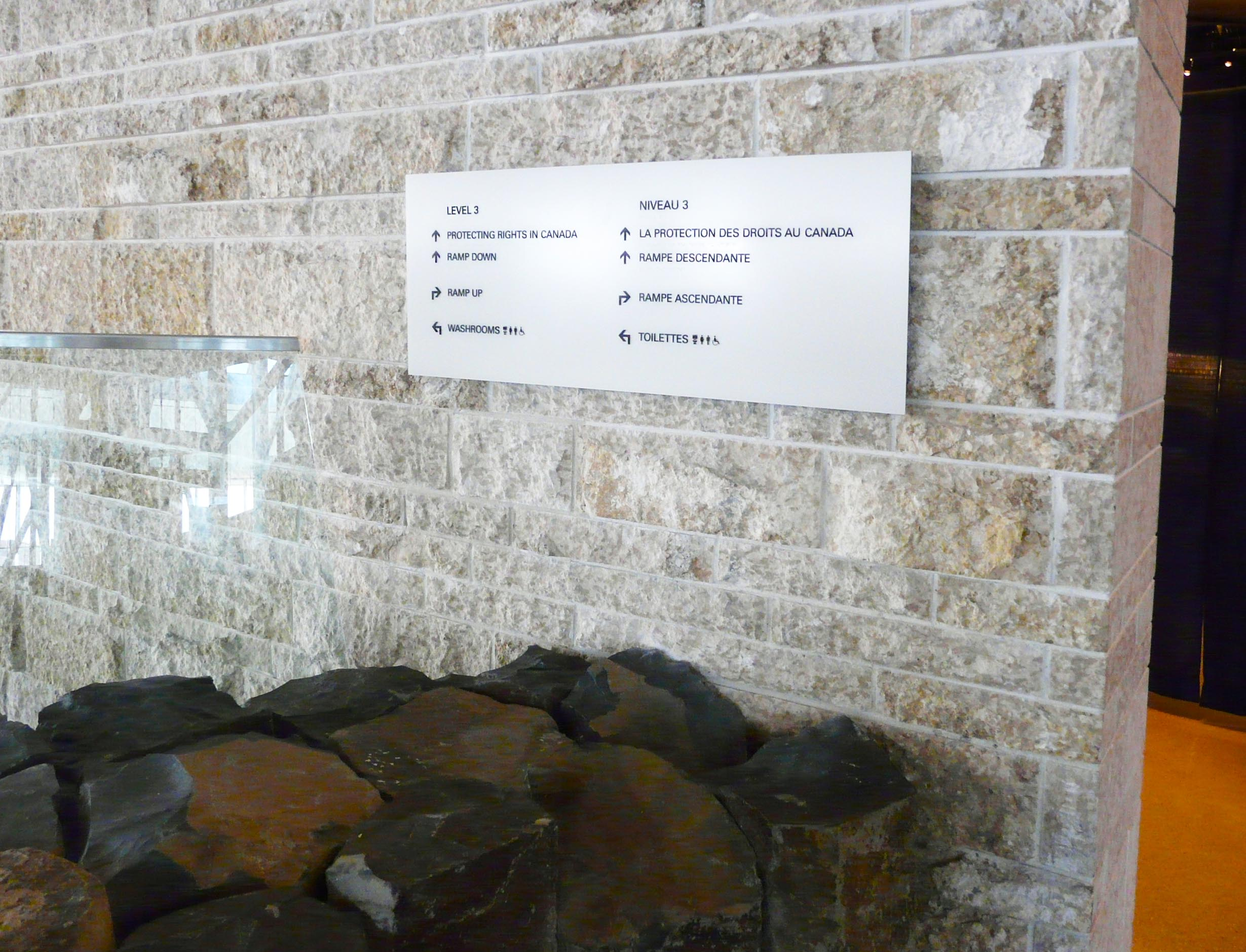 Interior Directional Signage Canadian Museum