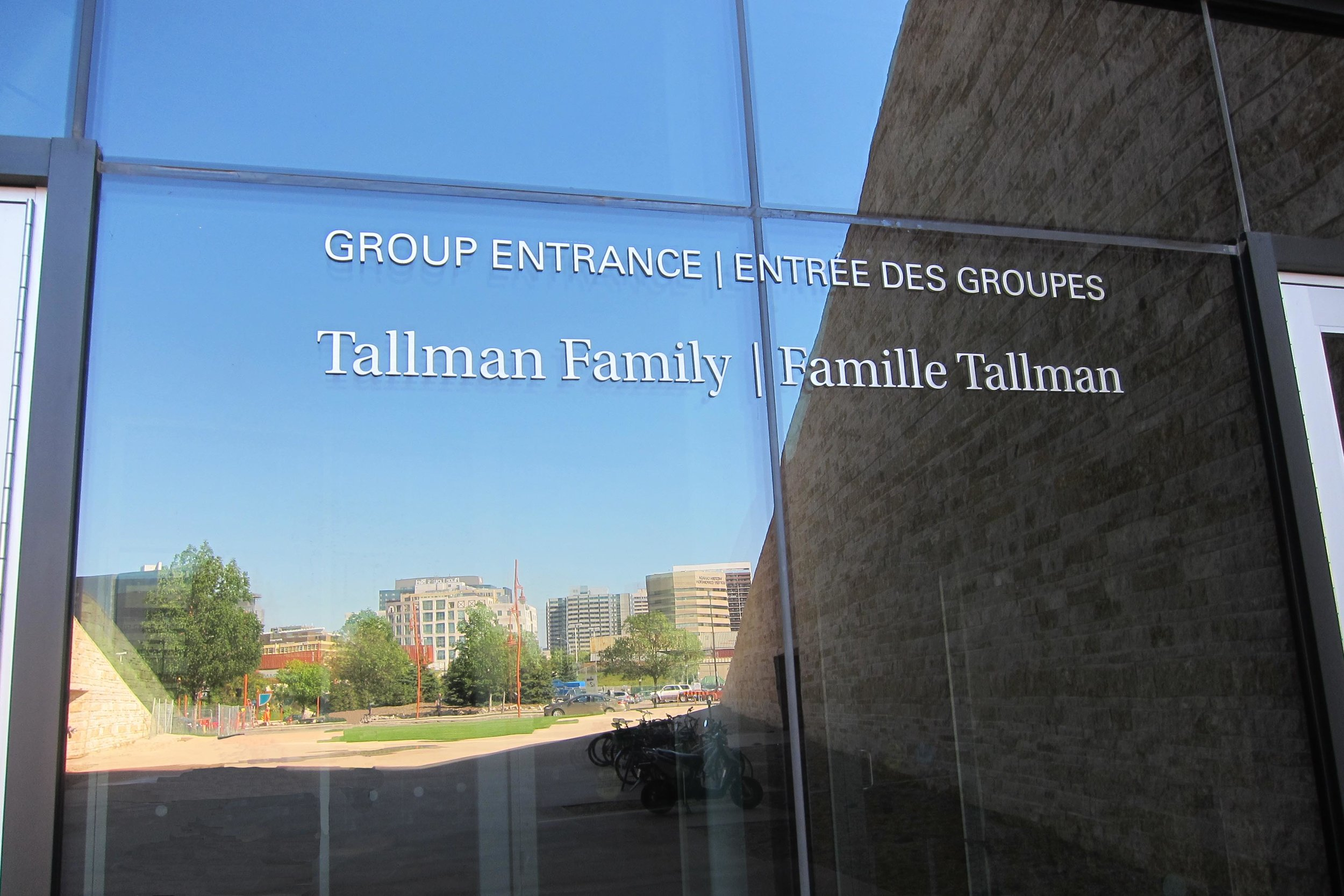 Exterior Signage On Glass