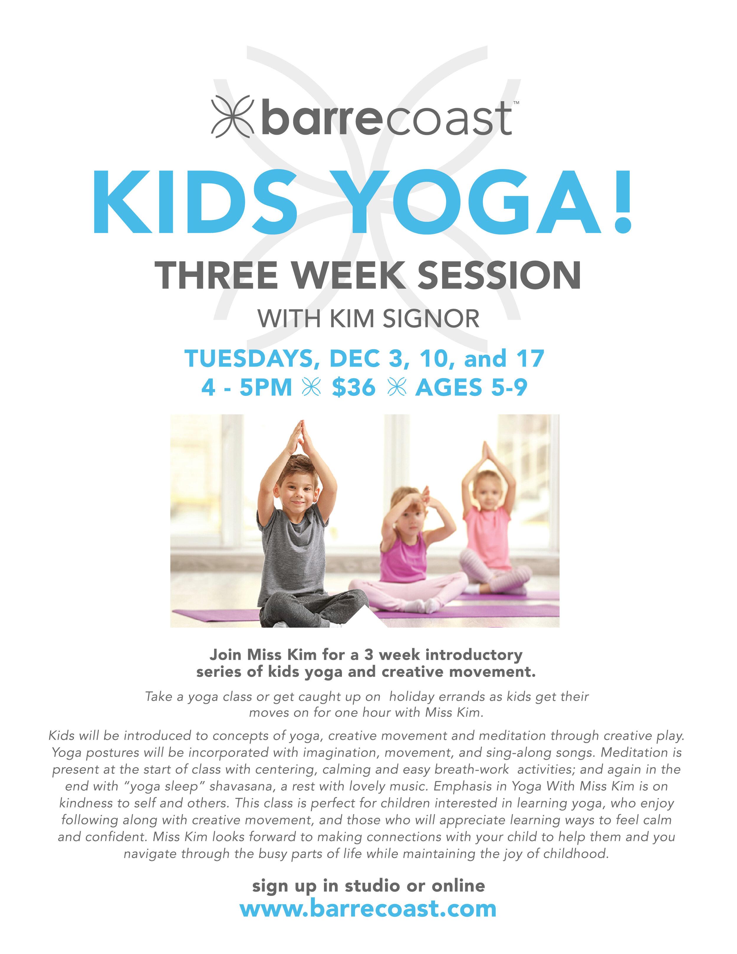 Copy Of Kids Yoga Barrecoast