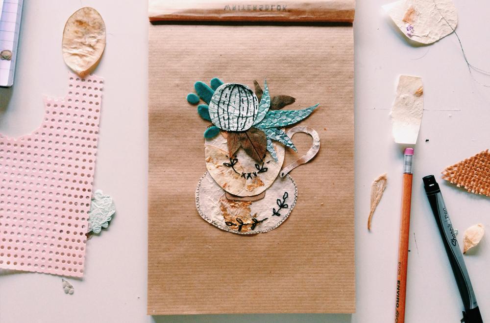 Teacup and succlent paper art illustration Tara Galuska.jpg