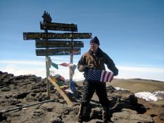 The summit ofMt. Kilimanjaro, Tanzania  The view at 19,340 feet, 10 Sept. 2008