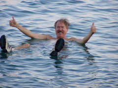 Afloat in the Dead Sea   In Israel researching THE KILLING SKY