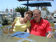 Bob and Anne chilling out in Barcelona  Working on our Spanish