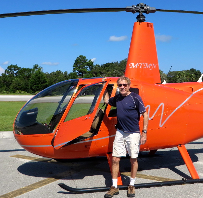 An old dog learns a new trick… first helicopter solo flight, Robinson R-44, 8 Aug 2014.