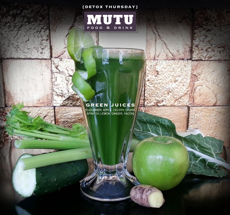 Introduciendo Jugos Verdes en MUTU Food & Drink