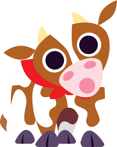 "The cow says: ""ERROR 404"" :("