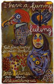 "Kenneth Patchen's painted poem ""Funny Felling"""