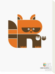 R is for Raccoon from Wee Society.