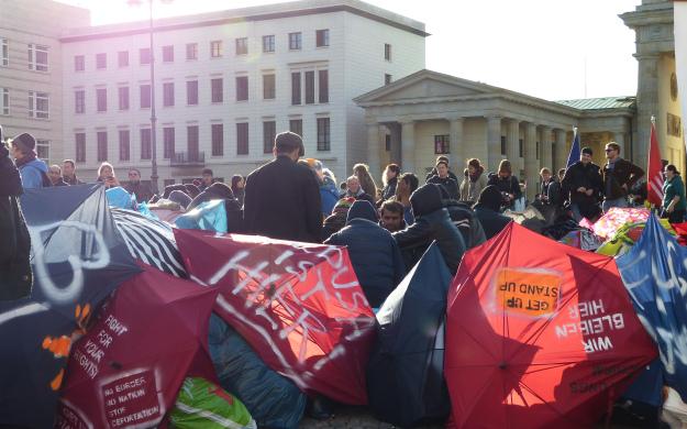 Asylum Seekers at Pariser Platz in Berlin, October 2013