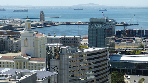 Cape Town's harbor and city center