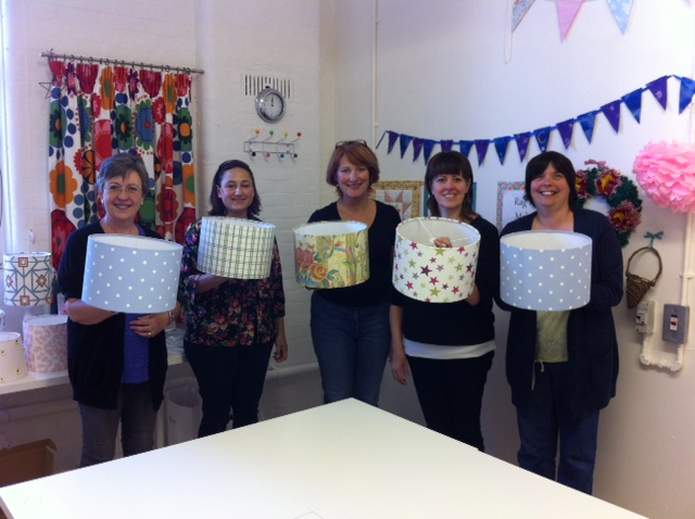 The results of the lampshade making workshop