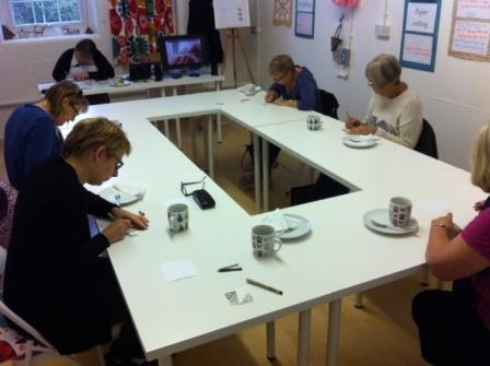The workshop in action - very tranquil!