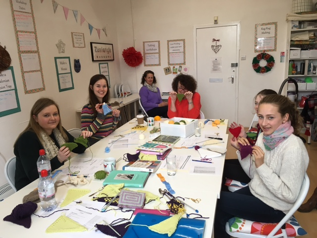 Proudly showing the finished bunting pendants!