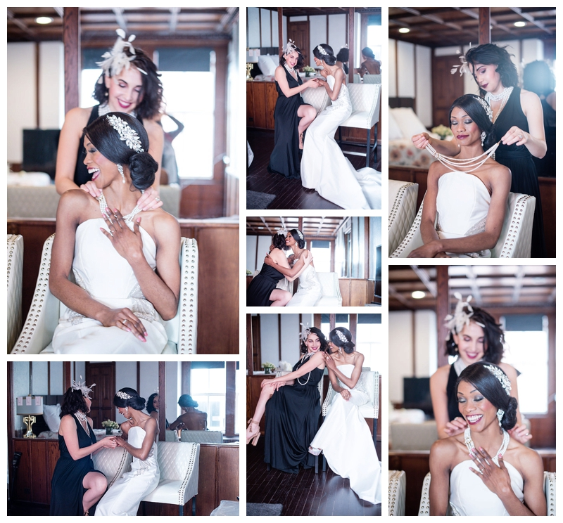 Nomee Photography-Great Gatsby-Hyde Park Mansion-Bride and Maid of Honor