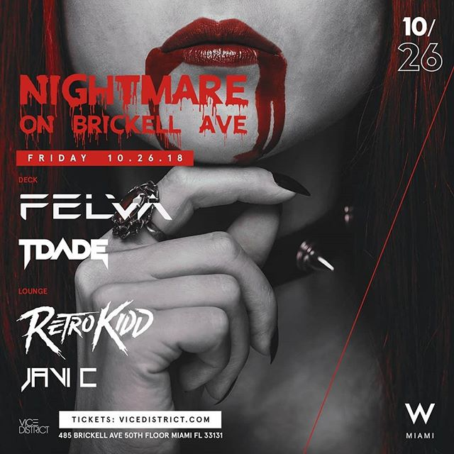 🙌🙌🙌🙌 H A L L O W E E N 🎃 P A R T Y 👻 JOIN ME TONIGHT @WMIAMIHOTEL  USE PROMO CODE 🎫 RETROKIDD 🔌 *Ladies in FREE ALL NIGHT *Guys in free before 12AM  TO GET IN FREE Make sure to use promo code through eventbrite. LINK IN BIO  #halloween #party #event #dj #miami