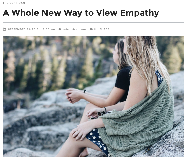 Darling Magazine: Web Article, 2016,  A Whole New Way to View Empathy