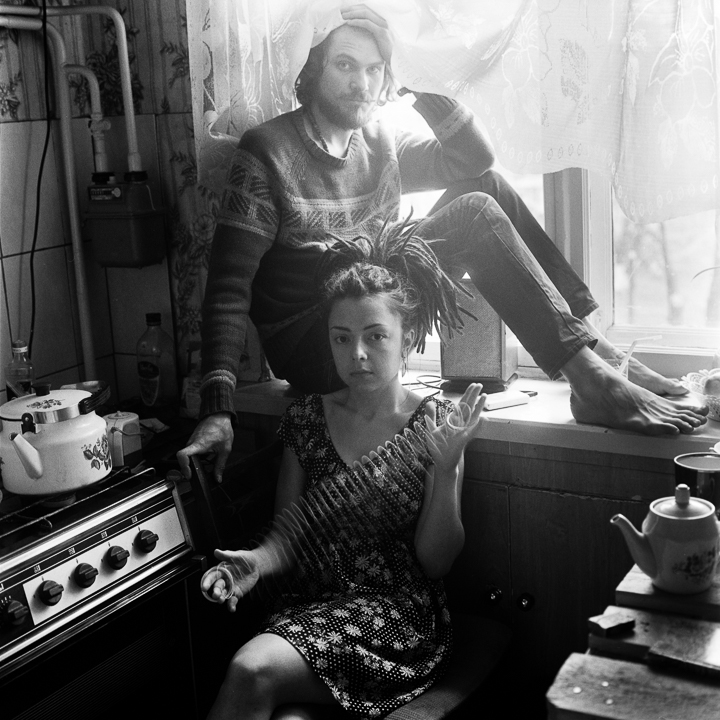 Yana and Artem (portrait in the kitchen)
