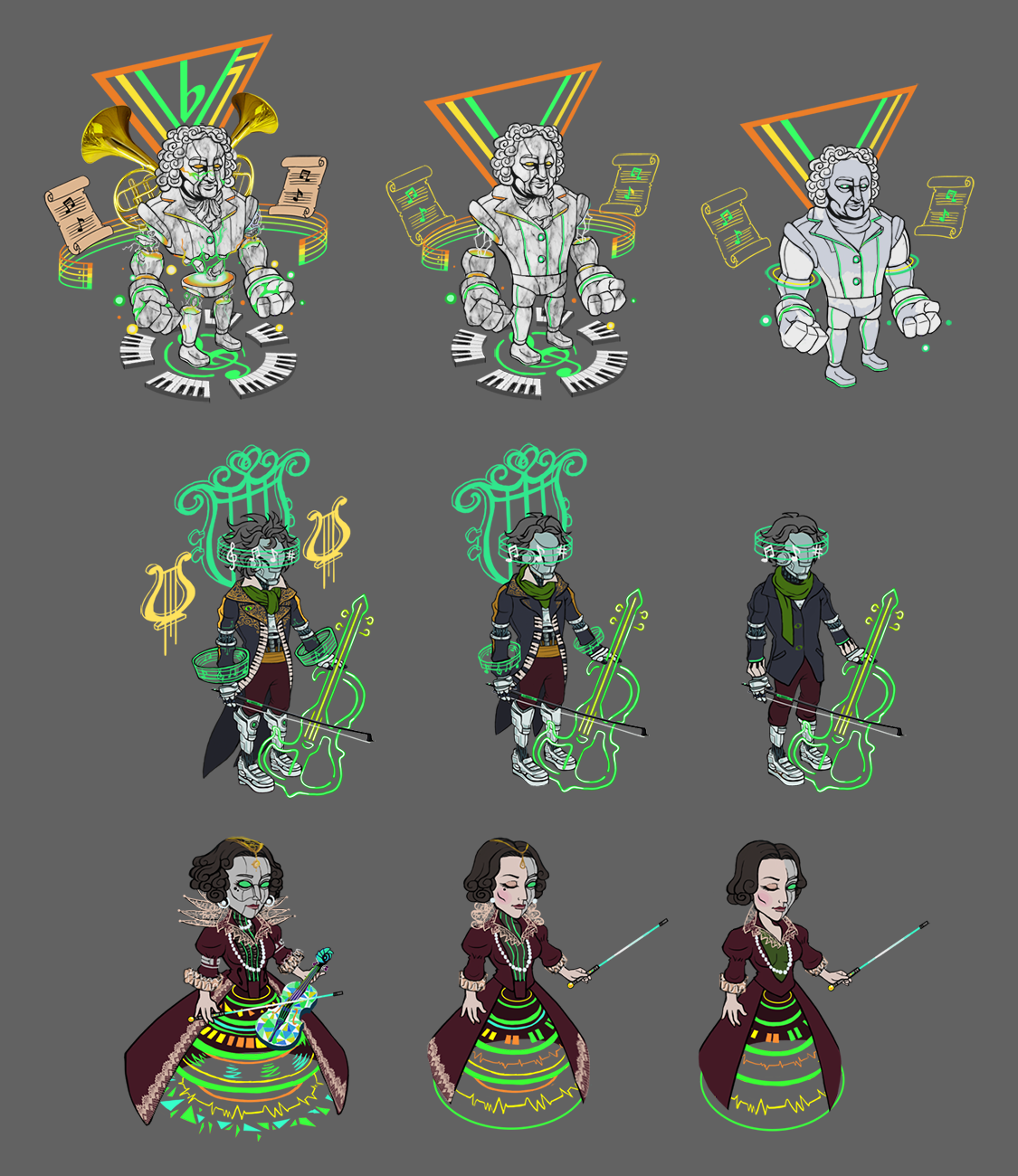 Classical Trance Character Concepts