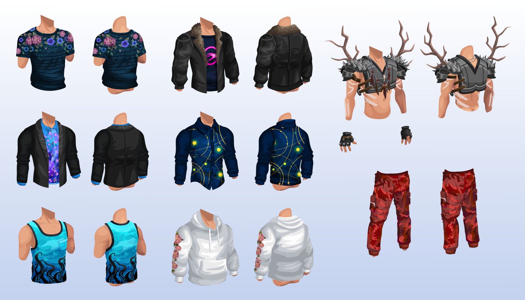 Male Avatar Items (Vector)