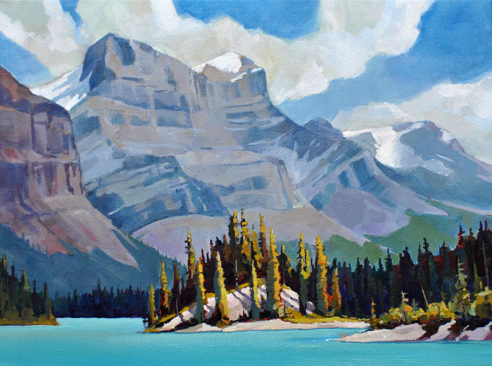 Maligne Narrows 12x16 Mountain Galleries, Jasper AB