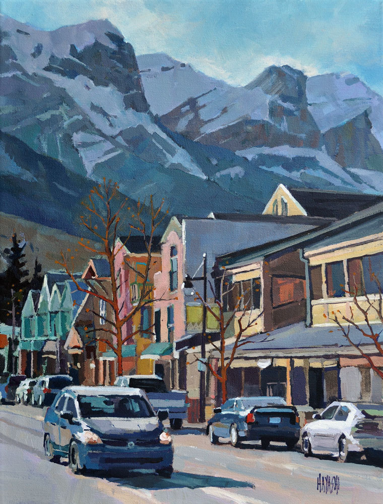 Main Street Canmore 12x16 Gainsborough Gallery, Calgary AB