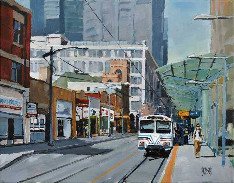 Calgary LRT 11x14 Gainsborough Gallery, Calgary AB