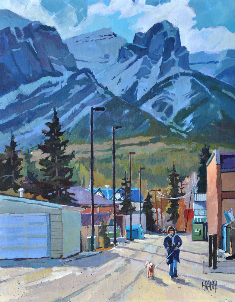 Canmore Back Alley 11x14 Mountain Galleries, Banff AB