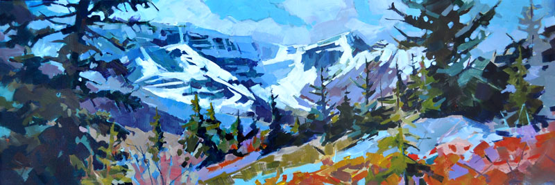 Icefield View 12x36 Gainsborough Gallery, Calgary AB
