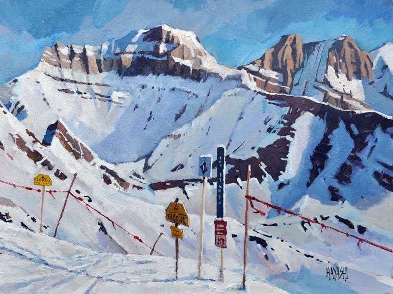 SOLD - View from Whitehorn One 9x12 Mountain Galleries, Banff AB