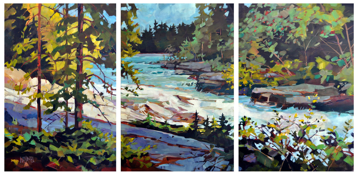 SOLD - Rambling Waters 72x36 Matilda Swanson Gallery, Clarksburg ON